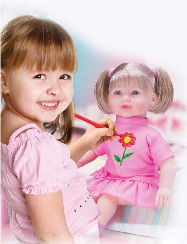 Boneca Pinta e Repinta Diver Toys - Ref 653  - FAMATECNOSHOP