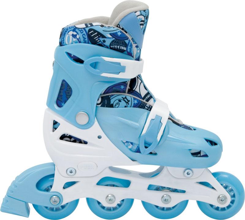 Patins In-Line Roller Kids Ajustável Azul – Tamanho M (32 a 35) – Bel Sports 367800  - FAMATECNOSHOP