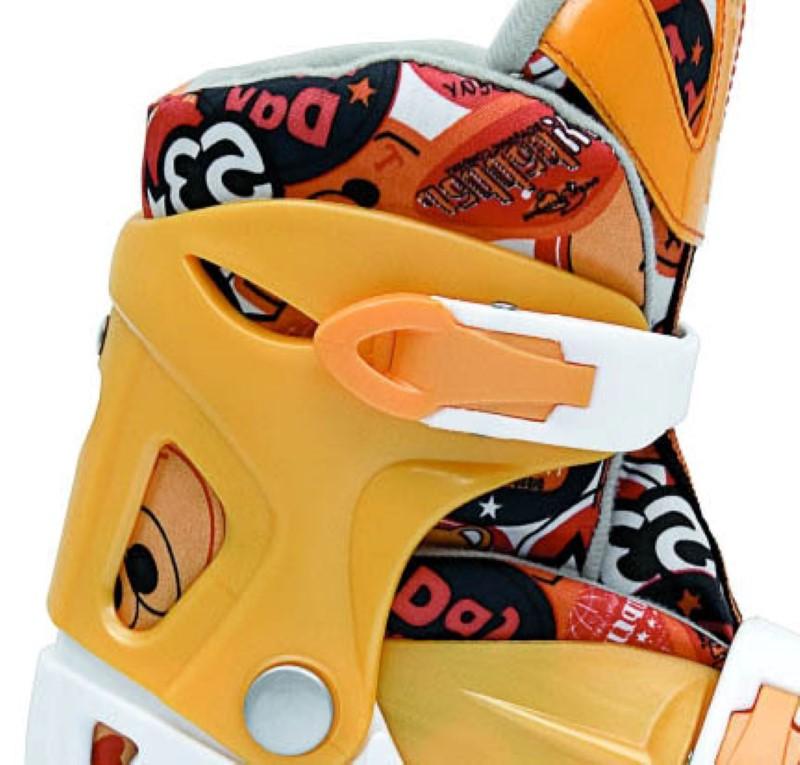 Patins In-Line Roller Kids Ajustável Amarelo – Tamanho M (32 a 35) – Bel Sports 367800  - FAMATECNOSHOP