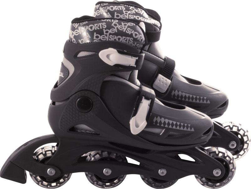 Patins In-Line Roller Radical Ajustável Cinza – Tamanho G (36 a 39) – Bel Sports 367600  - FAMATECNOSHOP