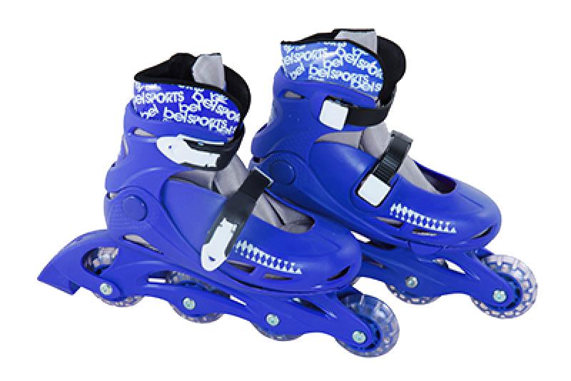 Patins In-Line Roller Radical Ajustável Azul – Tamanho G (36 a 39) – Bel Sports 367600  - FAMATECNOSHOP