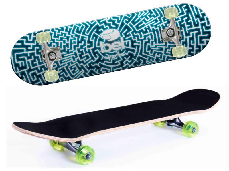 Skate Skateboard Bel Sports Labirinto Semi-Profissional Shape 79 cm - 402000  - FAMATECNOSHOP