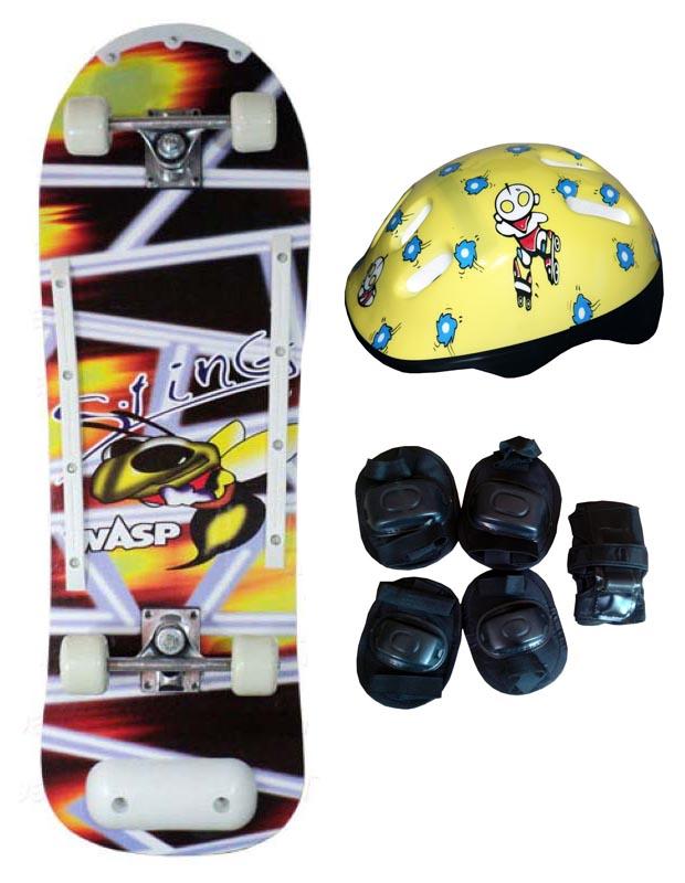 Skate Radical Iniciante Sting Wasp com Kit de Proteção Completo Bel Sports - 411900  - FAMATECNOSHOP