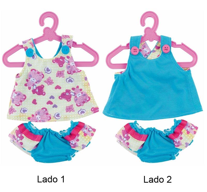 Roupinhas Boneca Baby Alive Dupla Face - Blusa e Calcinha - Cotiplas 2110  - FAMATECNOSHOP