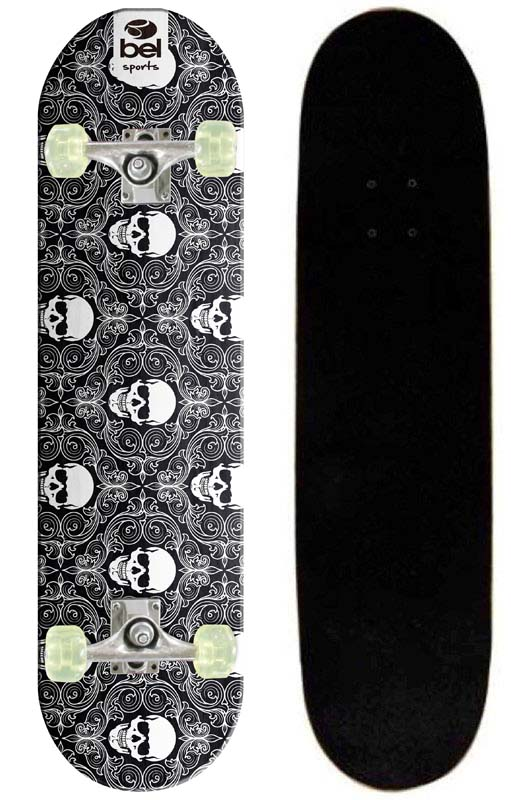 Skate Skateboard Bel Sports Caveirinhas Semi-Profissional Shape 79 cm - 402000  - FAMATECNOSHOP