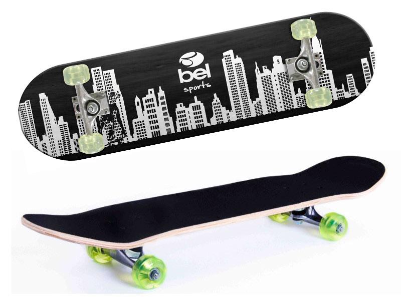 Skate Skateboard Bel Sports Prédios Semi-Profissional Shape 79 cm - 402000  - FAMATECNOSHOP
