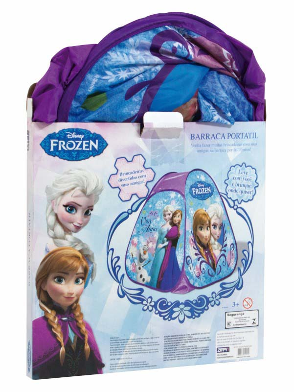 Barraca Portátil Toca Frozen Elsa e Anna Zippy Toys  - FAMATECNOSHOP