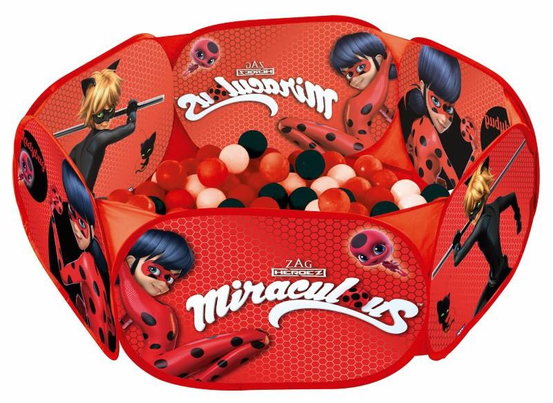 Piscina de Bolinhas Miraculous Ladybug com 100 Bolinhas Zippy Toys  - FAMATECNOSHOP