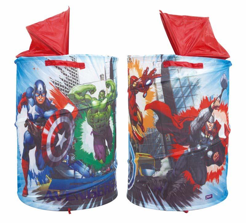 Porta Brinquedos Objetos Portátil Avengers Vingadores Zippy Toys  - FAMATECNOSHOP