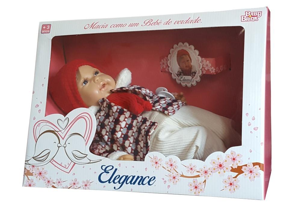 Boneco Baby Eduard Elegance Baby Brink - 1307  - FAMATECNOSHOP