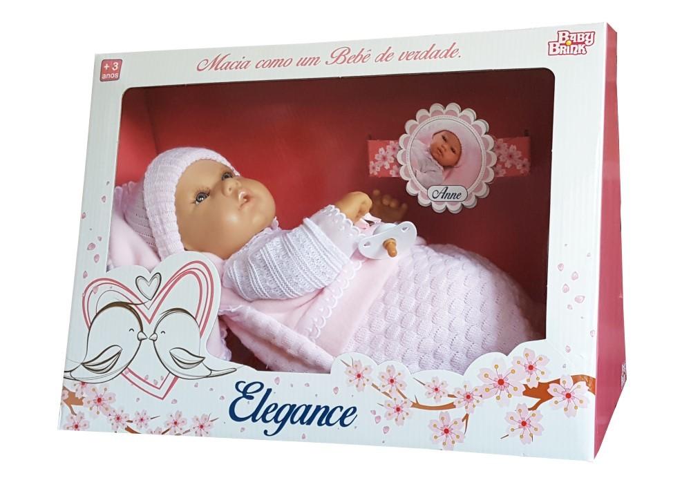 Boneca Baby Anne Elegance Baby Brink - 1302  - FAMATECNOSHOP
