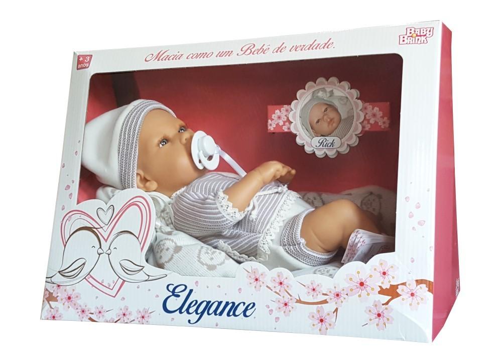 Boneco Baby Rick Elegance Baby Brink - 1303  - FAMATECNOSHOP