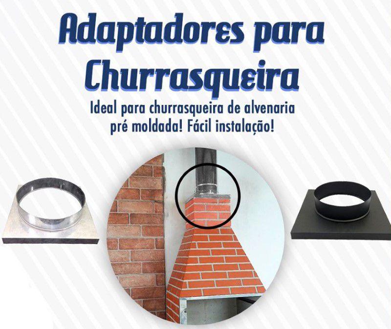 """Adaptador para Churrasqueira 8"""" Galvanizado 31x31cm ArtMill  - FAMATECNOSHOP"""