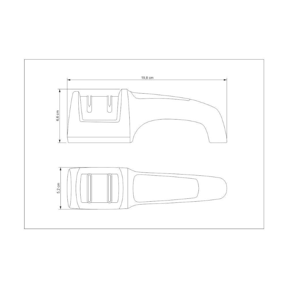 Afiador de Facas Tramontina Profio Diamantado com Suporte em ABS e Aço Inox  - FAMATECNOSHOP