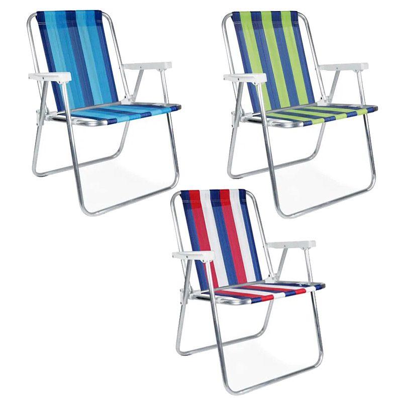 Cadeira Alta em Alumínio para Praia e Piscina - Mor  - FAMATECNOSHOP