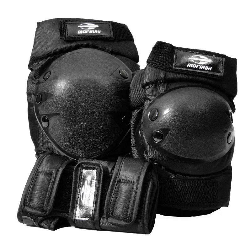 Capacete e Kit de Proteção Mormaii - Tamanho M - Preto  - FAMATECNOSHOP