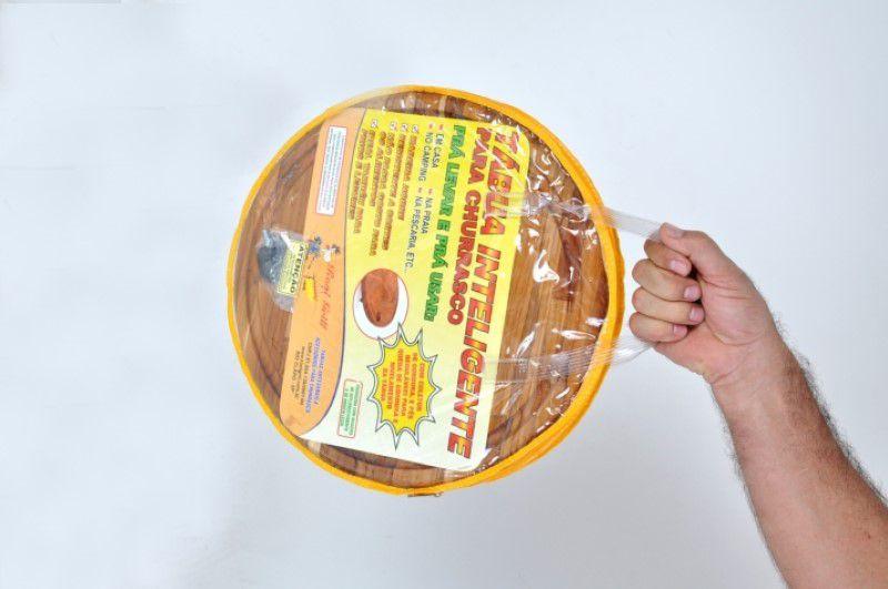 Tábua Artesanal Inteligente em Madeira Nobre Redonda  - FAMATECNOSHOP