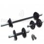 Kit Fitness 30Kg com 3 Barras e Hand Grip