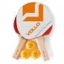 Kit Tenis de Mesa 2 Raq. 3 Bolas
