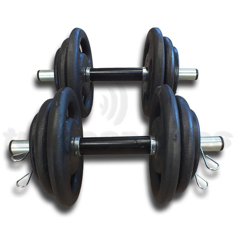 Kit Fitness 30Kg com 2 Barras 40cm