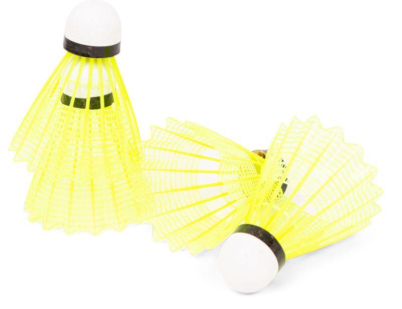Peteca de Badminton Vollo de Nylon C/ Base de Cortiça Tubo C/ 6