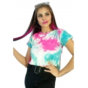 Blusinha tie dye color candy.