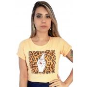 Tshirt cropped Dedos Cruzados Oncinha