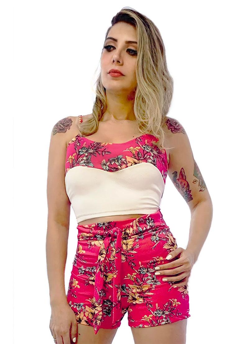 Conjunto bicolor rosa  - Loomine