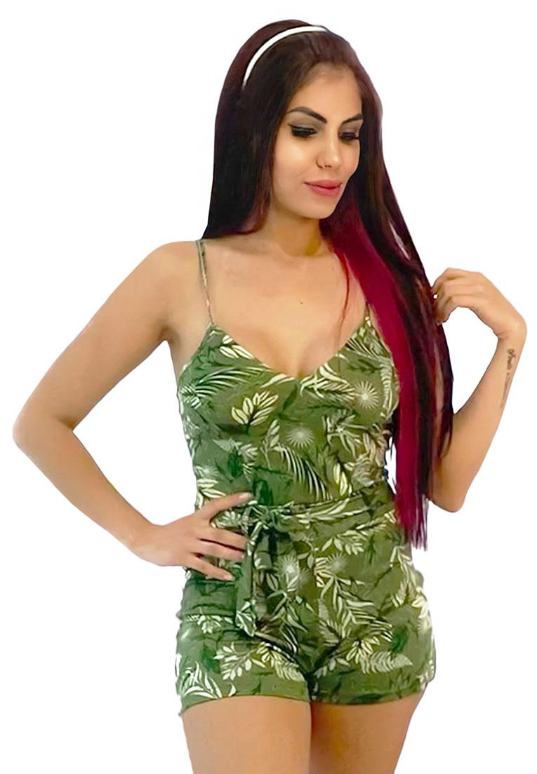 Macaquinho alcinha verde folhas  - Loomine