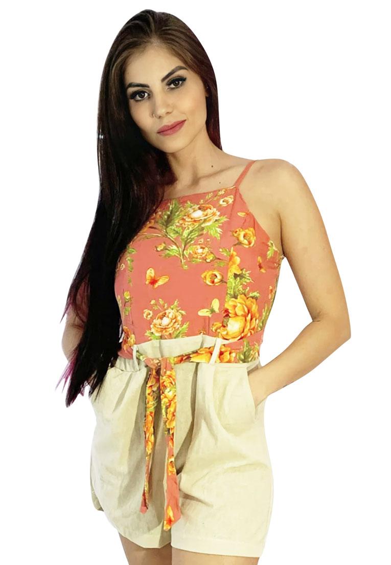 Macaquinho floral linho  - Loomine