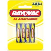 Pilhas Alcalinas AAA Rayovac - 4 Unidades
