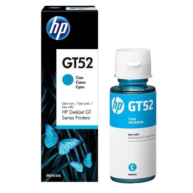 Garrafa de tinta HP DeskJet GT52 Series Printers Ciano