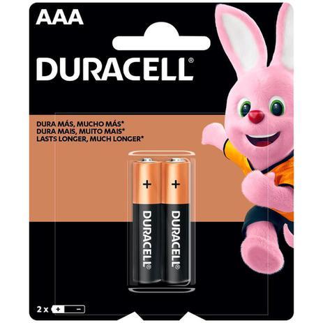 Pilhas Alcalinas AAA Duraccel - 2 Unidades
