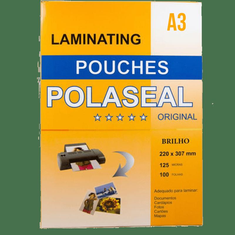 Plástico A3 para Plastificação - Laminating Pouches - Polaseal