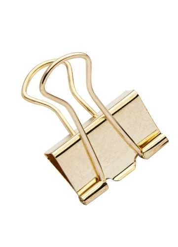 Binder Clips Color Plus Dourado 25mm MOLIN