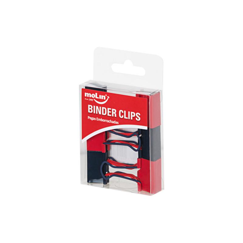 Binder Clips Pegas Emborrachadas 25mm MOLIN