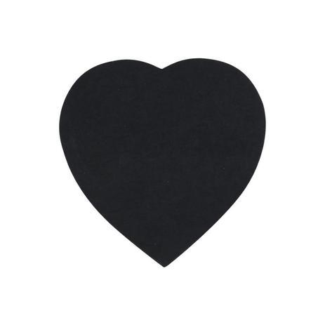 Bloco Adesivo Coração Preto