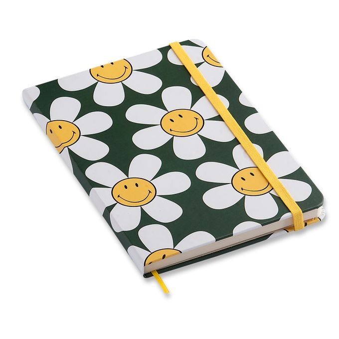 Caderneta Smiley Margarida Verde 14X21 Sem Pauta CÍCERO
