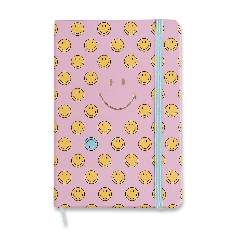 Caderneta Smiley Rosa 14X21 Pontado CÍCERO