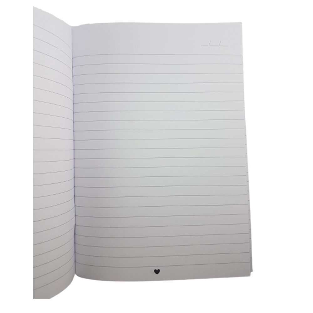 Caderninho Papejournal Mini Coração Pautado PAPELOTE