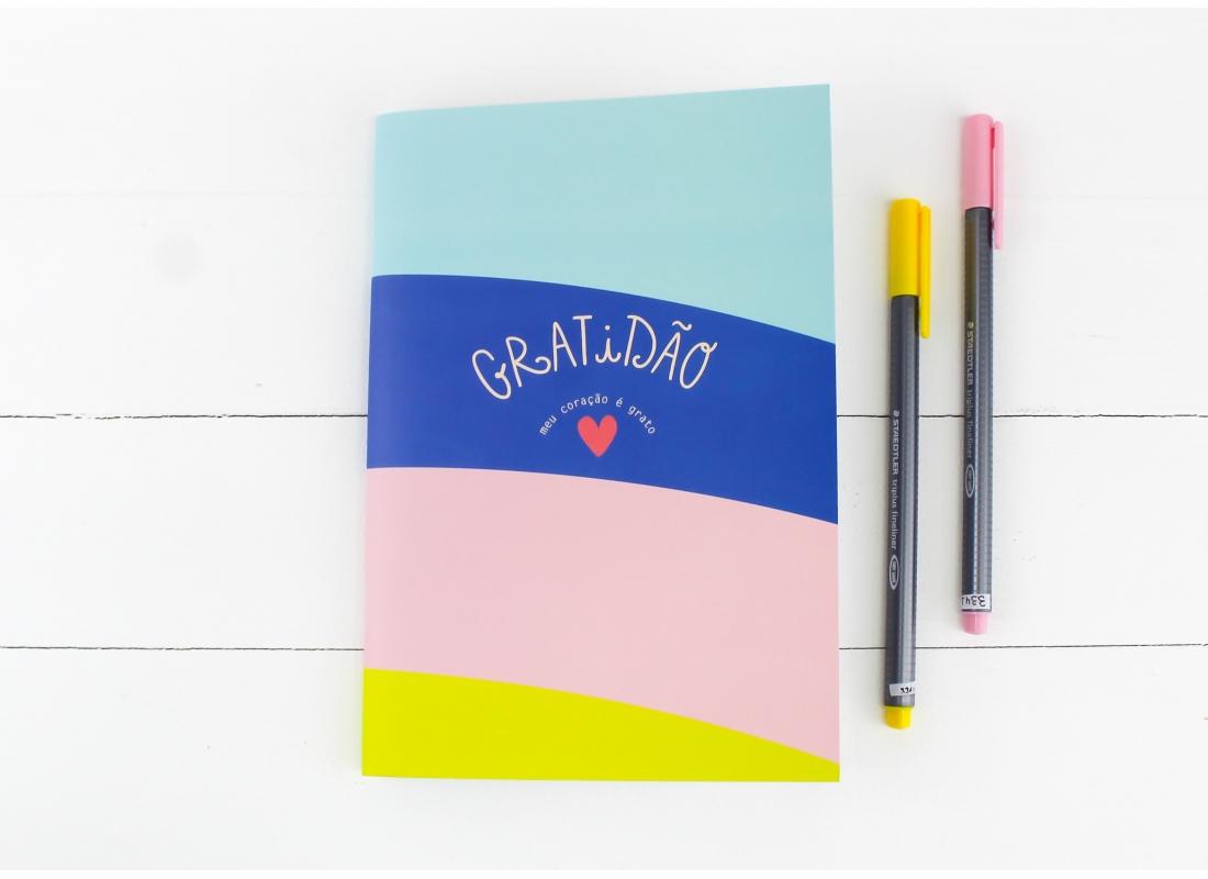 Caderninho Papejournal Pautado Gratidão PAPELOTE