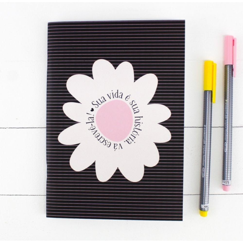 Caderninho Papejournal Pautado Sua Vida é Sua História PAPELOTE