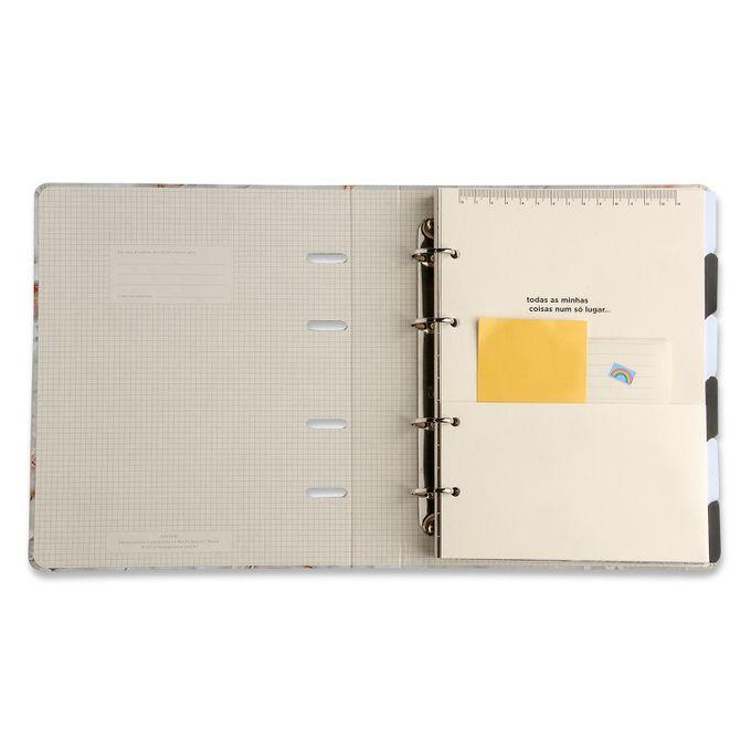 Caderno Criativo Argolado Minerais Mármore Preto 17 x 24 CÍCERO