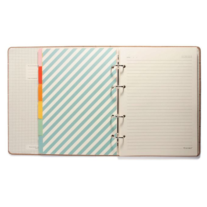 Caderno Criativo Argolado Todas Juntas Pautado 17X24 Arco-Íris CÍCERO