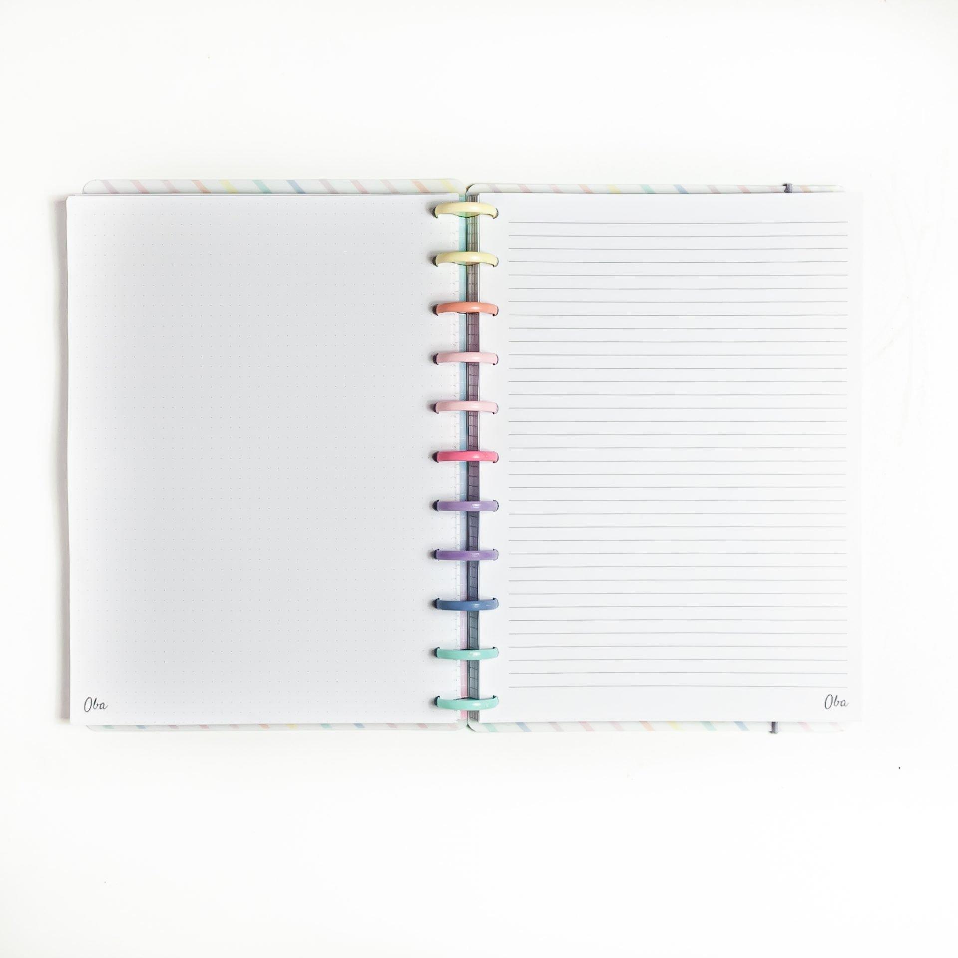 Caderno de Disco A4 Good Vibes OBA PAPELARIA