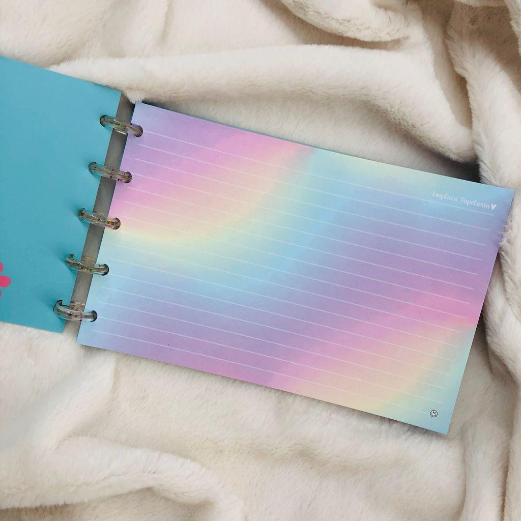 "Caderno de Fichas de Disco 30Fls 21x13cm ""Floral"" EMPLACA"