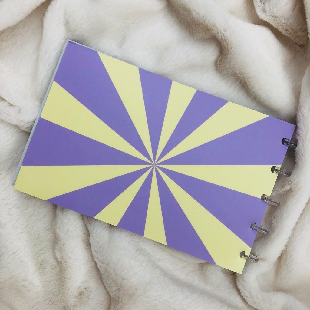 "Caderno de Fichas de Disco 30Fls 21x13cm ""Smile Psico"" EMPLACA"