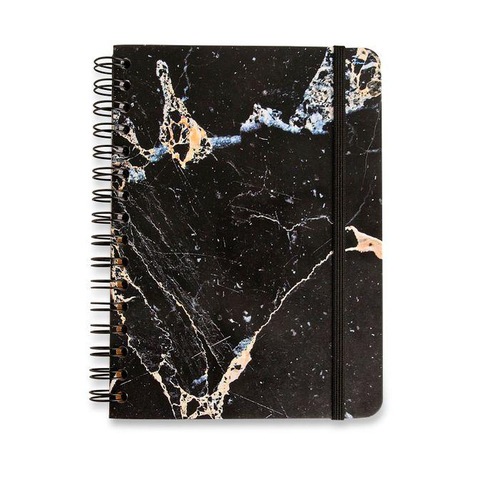 Caderno Espiral Minerais Preto A5 Pautado CÍCERO