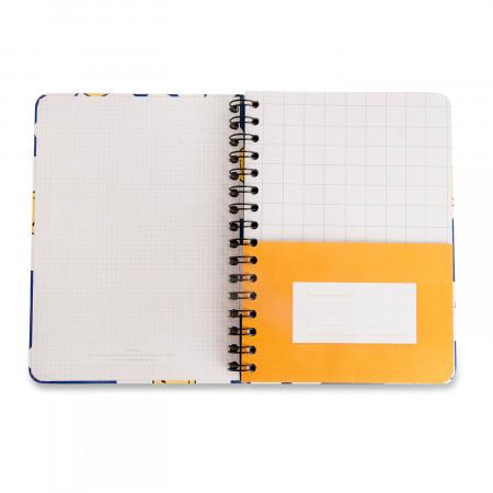 Caderno Espiral Smiley Margarida Azul A5 Pautado CÍCERO
