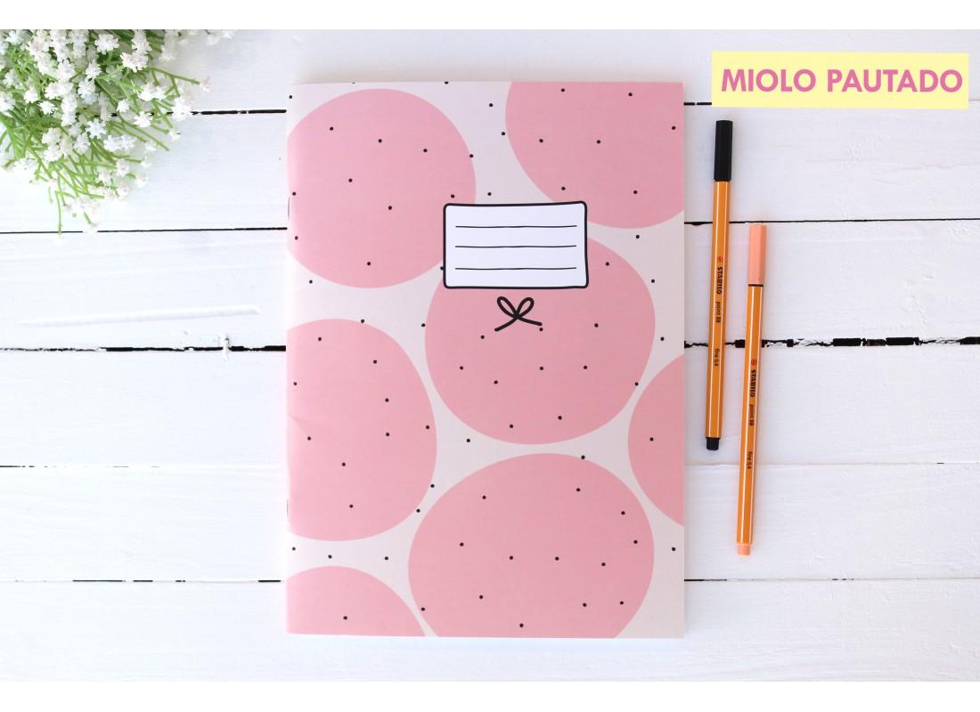 Caderno Flex Bolinhas Rosas Tam A4 PAPELOTE